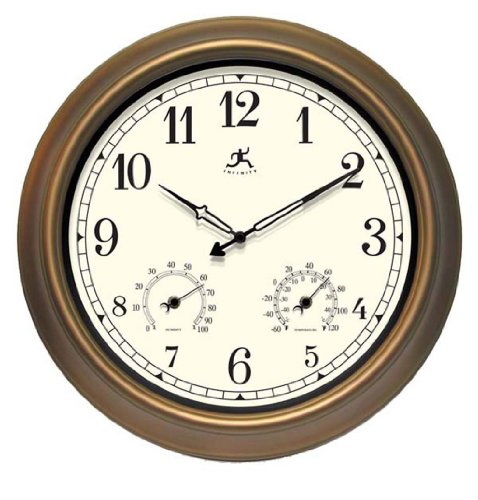 Infinity Instruments Wall Clock - The Craftsman