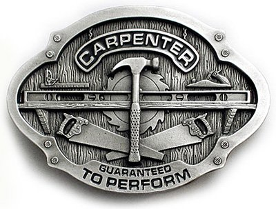 CARPENTER Belt Buckle Construction Trade Foreman