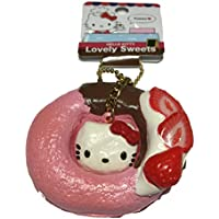 Sanrio Hello Kitty Lovely Sweets Strawberry Donut Squishy