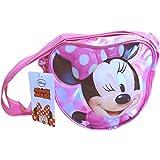 Girls' Pink Polka Dot Heart Disney Minnie Mouse Shoulder Bag
