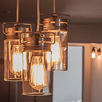 TOP RATED Hudson Lighting Vintage Antique Style Edison Bulb - 4 Pack - ST58 - Squirrel Cage Filament - 230 Lumens - 60 Watt - Dimmable - E26 Bulb Base - Classic Squirrel Cage Filament - Tear Drop Top