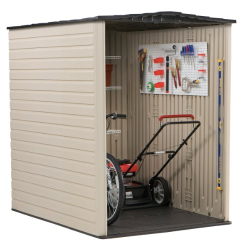 Rubbermaid storage sheds plastic large outdoor storage for Garden shed for lawn mower