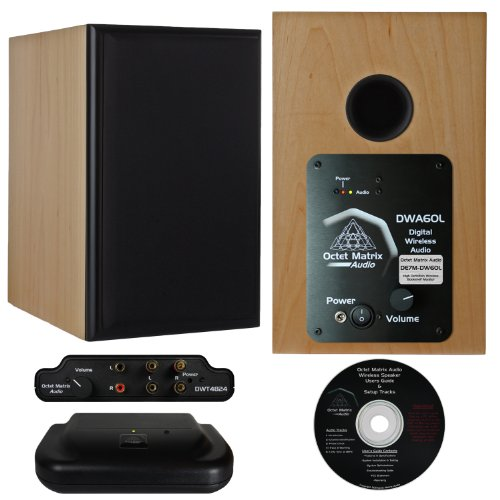 Octet Matrix Audio De7M-Dw60 Digital Wireless Bookshelf Speakers, Maple Veneer, Pair