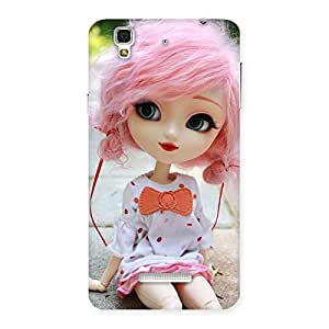 Enticing Pink Doll Back Case Cover for Yu Yureka