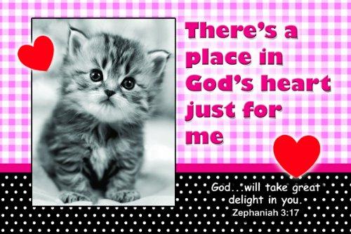 Christian Poster - Platz in Herzform God's - Poster ca, 13in x 9in