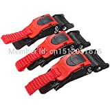 Alcoa Prime 3pcs High Quality Quick Release Buckle Motorcyle Bike ATV Helmet Chin Strap Speed Clip Shipping