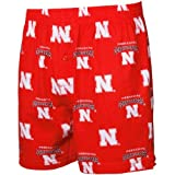 NCAA Men's Nebraska Cornhuskers Supreme Boxers (Red, Large)