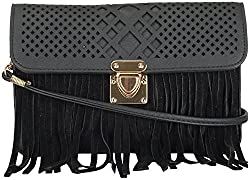 Moda King Women's Handbags (Black) (ModaKing005)