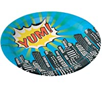 Ginger Ray Paper Plates - Pop Art Superhero Party from Ginger Ray