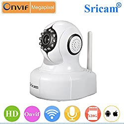 Sricam SP Series Wireless HD IP Wifi CCTV [Watch LIVE DEMO right now] indoor Security Camera (support upto 128 GB SD card)