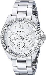Fossil Damen-Armbanduhr Retro Traveler Analog Quarz Edelstahl AM4481
