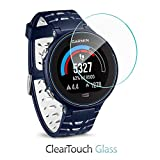 Garmin Forerunner 630 Screen Protector, BoxWave® [ClearTouch Glass] 9H Tempered Glass Screen Protection for Garmin Forerunner 630