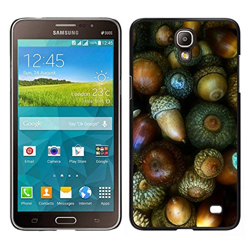 GIFT CHOICE / Dimagriscono Duro Custodia protettiva Caso Cassa Slim Hard Protective Case SmartPhone Cover for Samsung Galaxy Mega 2 // Dado verde Autumn Acorn //