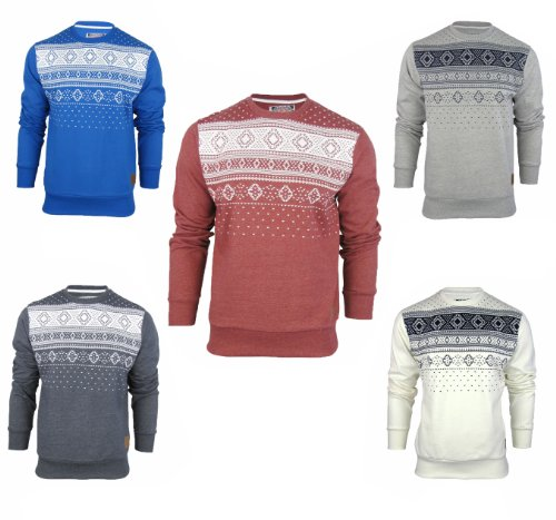 Sale Mens Tokyo Tigers Marsta Aztec Sweatshirt Jumper (Large, Navy Marl)
