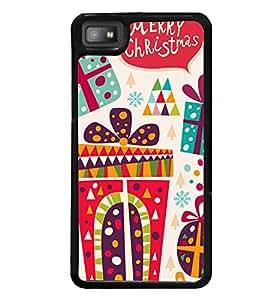printtech Merry Christmas Back Case Cover for BlackBerry Z10