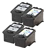 2 x Set ( 2 x Black 2 x Colour ) Ink Replace For CANON Pixma mp250 Printer, PG 510 / PG 512, CL 511 / CL 513 Ink CANON Pixma IP2700 IP2702 MP240 MP250 MP252 MP260 MP270 MP272 MP280 MP282 MP330 MP480 MP490 MP492 MP495 MP499 MX320 MX330 MX340 MX350 MX410 M