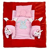White Swan Velvet Mattress With Rabbits & Pillow (Age Group: 0-2 Years)