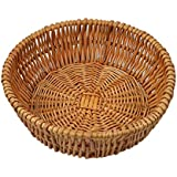 RURALITY Round Wicker Bread Basket Fruits Bowls ,Vegetables Baskets