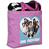 ONE DIRECTION 1D Canvas TOTE bag and THROW BLANKET GIFT SET