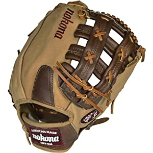 Nokona BC-1275H Buffalo Combo Baseball Glove H Web 12.75 Inch (Right Handed Throw)