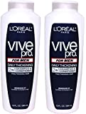2 Bottle Multi-pack L'Oreal Vive Pro FOR MEN Daily Thickening 2 in 1 Shampoo & Conditioner for Fine / Thinning Hair 13 FL. OZ.