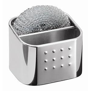 Amazon.com: InterDesign Forma Dual Scrub Hub, Polished Stainless Steel