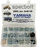 250pc Specbolt Bolt Kit for Yamaha UTILITY ATV including all Grizzly Warrior Wolverine Big Bear Tracker Breeze Timberwolf Rhino YFM YTZ for Maintenance & Restoration using OEM Spec Fasteners for Quads