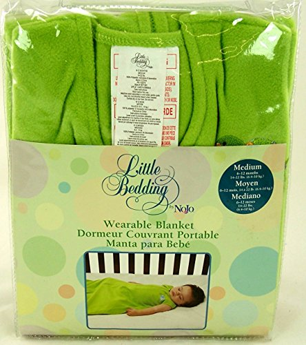 1 X Nojo Little Bedding- Medium Size Wearable Blanket for 6 to 12 Months- 14-22 Lbs- Green