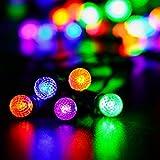 リーダーテク(lederTEK) 単2電池式 防水 カラー 電飾 ダイヤ ボール イルミネーション LED 4.15m 50球 8点滅モデル タイミング機能 集まり クリスマス ライト 飾り付け