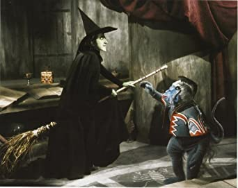 Wicked Witch Of The West Flying On Her Broom Wizard of Oz Wicked Wi...