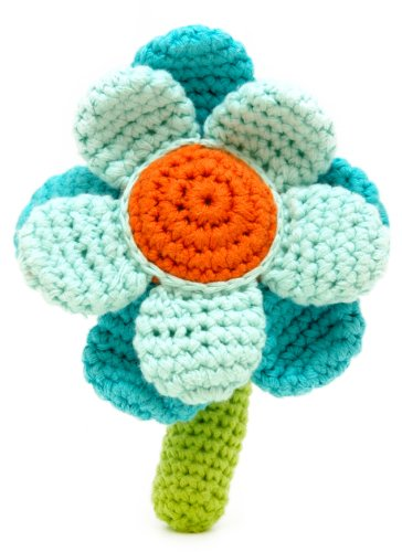 Flower Rattle - Turquoise
