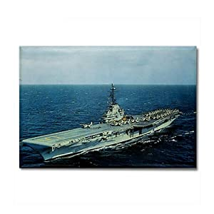USS Randolph Ship's Image Rectangle Magnet by CafePress