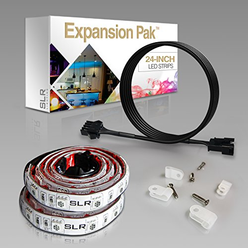 2pc-expansion-pack-multi-color-rgb-led-strip-expansion-kit-24-inch-pre-cut-accent-light-strips-for-t