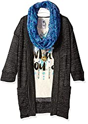 Beautees Big Girls' 2 Pc. Long Cozy with Screen Tee