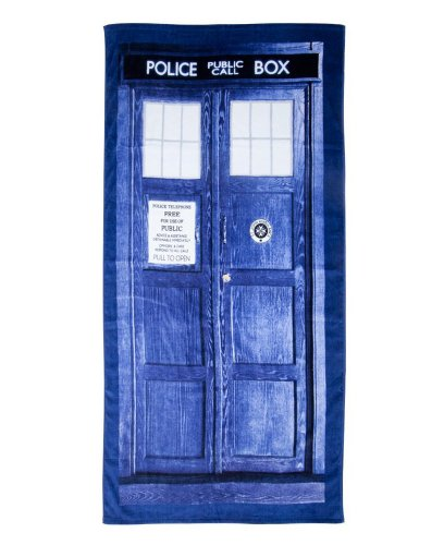 """Doctor Who Tardis 30"""" X 60"""" Beach Towel from Robe Factory"""