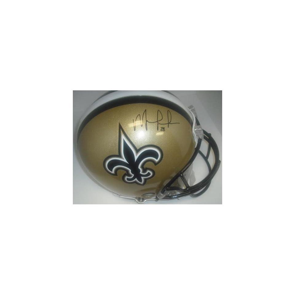 New Orleans Saints Mark Ingram Hand Signed Autographed Football Helmet