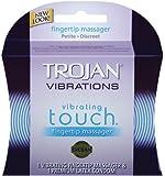 Trojan Vibrations Vibrating Touch Fingertip Massager and 1 Premium Latex Condom