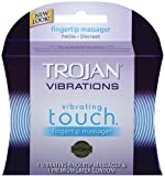 Trojan Vibrations Vibrating Touch Fingertip Massager and 1 Premium Latex Condom