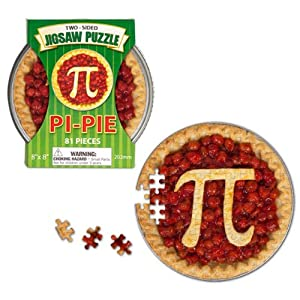 Two-Sided Pi/Pie Jigsaw Puzzle