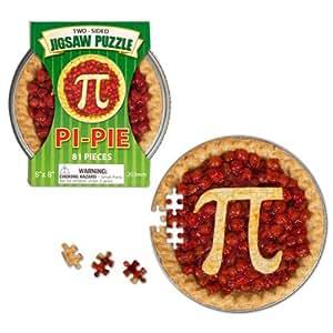 Two-Sided Pi/Pie Jigsaw Puzzle
