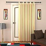 Elegance Handlooms 1 Piece Cotton Striped Door Curtain - 7.5 ft, Multicolour