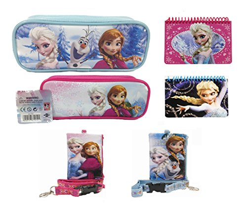 Disney Frozen Two Pencil Pouch Plush Two Lanyards and Two Autograph Book