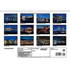 Nachts(ch)ichten (Wandkalender 2015 DIN A3 quer): Nachtfotografien aus Großstädten (Monatskalender