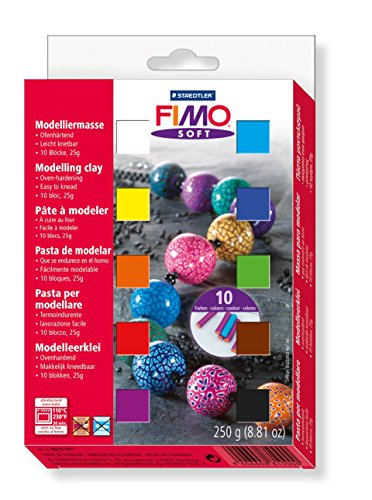 Fimo Soft Clay 10 Color Assortment 25 G Blocks Assorted Colors Box Of 10 front-343345