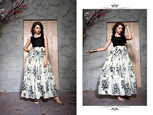 Govardhan Fashion Women's Cotton Printed Indo Western Dresses (Cotton Silk)