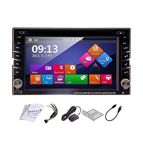 Doppio Din 6,2 pollici autoradio in precipitare Sistema multimediale GPS Car Stereo Navigatore 2 DIN lettore DVD SD USB Bluetooth MP3 Auto Radio Navigation