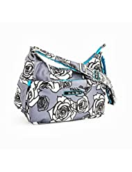 Juju Jujube Hobo Be Diaper Bag Charcoal Roses