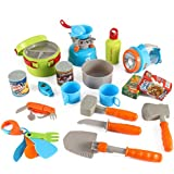 Little Explorers 20 Piece Camping Gear Toy Tools Play Set for Kids