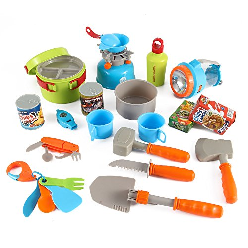 Little Explorers 20 Piece Camping Gear Toy Tools Play Set for Kids by Liberty Imports (Kids Outdoor Tools compare prices)