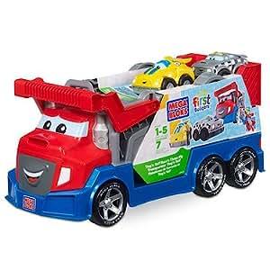 Megabloks - 80407U - Jeu de Construction - Tiny 'N Tuff - Camion Circuit de Course